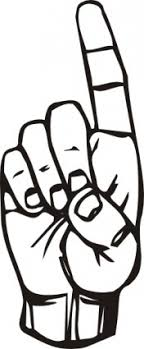Pointing Finger Clipart Black And White