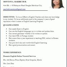 Resume Sample Doc Malaysia Examples In Format With For Job Application