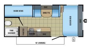 Jayco 2014 Fifth Wheel Floor Plans by 2017 Jay Flight Slx 174bh Floorplan Weight 2880 3500 Sleeps 4 Rv