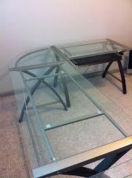 Walker Edison 3 Piece Contemporary Desk by Diy Glass Corner Desk Easy Build Glass Corner Desk U2013 Home