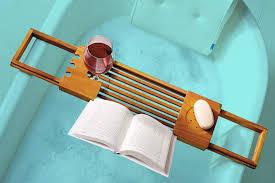 Teak Bathtub Tray Caddy by Best Bathtub Tray For Reading Drinking Wine And Lounging