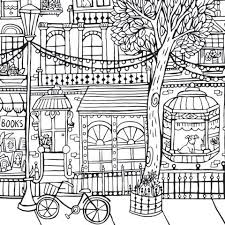 Giant Coloring Poster In City Print