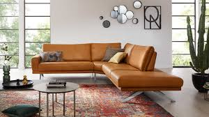 interliving sofa serie 4220 ecksofa kurkumafarbenes longlife leder stellfläche ca 251 x 267 cm