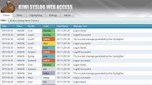 Solarwinds Help Desk Free by Free Kiwi Syslog Server Free Edition Solarwinds