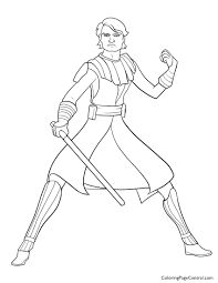 Anakin Skywalker Coloring Pages At GetDrawingscom Free For