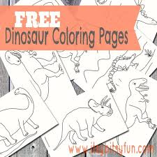 Printable Dinosaur Coloring Pages Free
