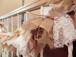 Burlap Lace Garland Rustic Wedding Decor