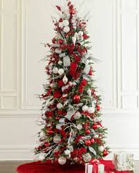 Snow Flocked Slim Christmas Tree by Buy Silverado Slim Christmas Trees Online Balsam Hill
