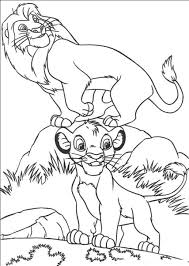 Wonderful Lion King Simba Coloring Pages With And Simbas Pride