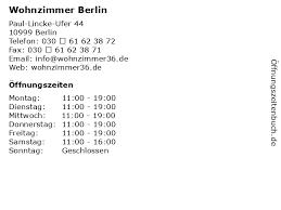 ᐅ öffnungszeiten wohnzimmer berlin paul lincke ufer 44