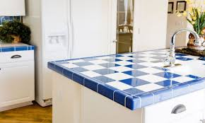 3x3 Blue Ceramic Tile by Best Types Of Tile For Kitchen Countertops Overstock Com