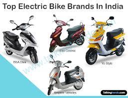 Top Electric Bike Brands In India 2015