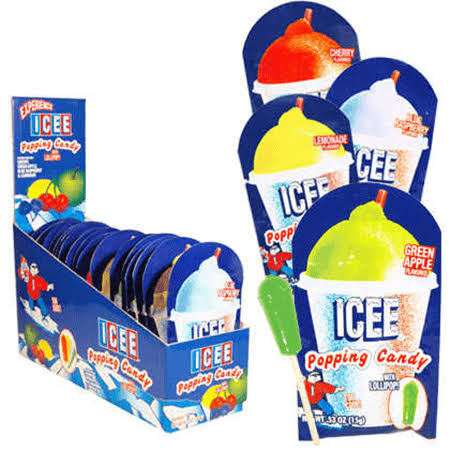 Icee Popping Candy with Lollipop - 18ct