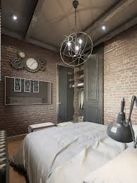 100 Brick Loft Apartments Small Bedroom With Exposed Three Dark Colored