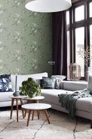 wohnzimmer tapete kirschblüten grün 148718