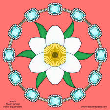 March Birthstone And Flower Mandala The Body Is A Canvas Pinterest