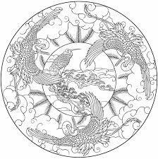 Bird Mandala To Color From Nature Mandalas Coloring Book