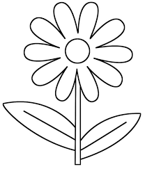 Flower Coloring Page For Kindergarten Pages Preschool