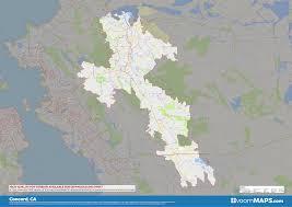 Road Zip Code Neighborhood Map Of Concord CA
