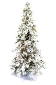 Pre Lit Flocked Christmas Tree 75 Ft Clear White Artificial