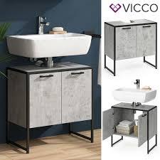 vicco wachtischunterschrank beton fyrk badschrank