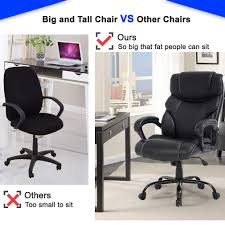 Big And Tall Executive Office Chair - 400lbs Adjustable Height PU Leather  Swivel Ergonomic Desk Chair W/Thick Padding Headrest & Lumbar Support Arms  ... Chair 31 Excelent Office Chair For Big Guys 400 Lb Capacity Office Fniture Outlet Home Chairs Heavy Duty Lift And Tall Memory Foam Commercial Without Wheels Whosale Offices Suppliers Leather Executive Fniture Desks People Desk Guide U2013 Why Extra Sturdy Eames Best Budget Gaming 2019 Cheap For Dont Buy Before Reading This By Ewin Champion Series Ergonomic Computer W Tags Baby
