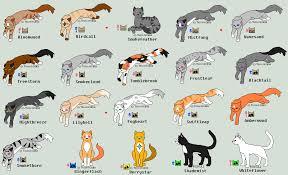 warrior cat names warrior cat names list every cat i ve made pt 1 warrior cats