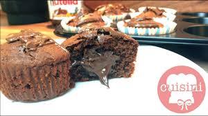schoko muffins mit flüssigem nutella kern rezept schnelle saftige muffins backen cuisini