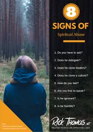 PO 8 Signs Of Spiritual Abuse