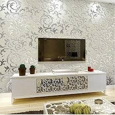 schlichtheit europäisch heim tapete umweltschutz vliestapete für wohnzimmer tv kulisse mustertapete grau silber