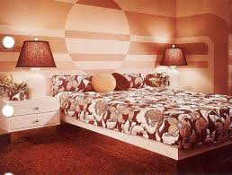 Love The Mural Not Colours Maybe Something Like This Behind Bed In 60s BedroomWarm BedroomBedroom CurtainsBedroom DecorMid Century