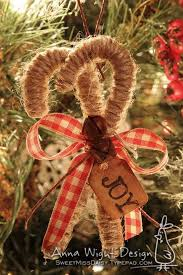 Twine Candy Cane Ornaments On The Tree