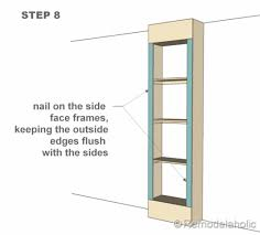how to build a bookcase step step woodworking plans diy built in