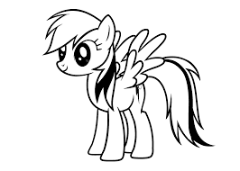 My Little Pony Rainbow Dash Coloring Pages For Kids Printable Free