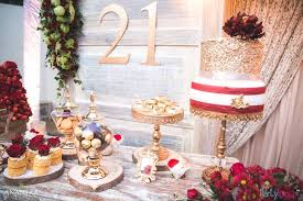 Cake Table From A Rustic Vintage 21st Birthday Party On Karas Ideas