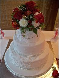 Embossed 3 Tier Wedding Cake Cakes Auckland New Zealand