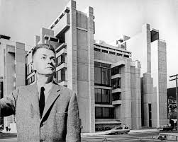 100 Architect Paul Rudolph In Front Of His Newly Completed Yale