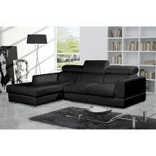 discount canape d angle canapé d angle moderne neto noir cuir pas cher achat vente
