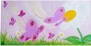 tableau chambre bébé fille tableau enfant bébé envol de papillons décoration chambre enfant
