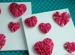 Easy Yarn Crafts For Preschoolers Valentines Day Ideas Make These Hearts With The Kids Homemade Craft Decorations