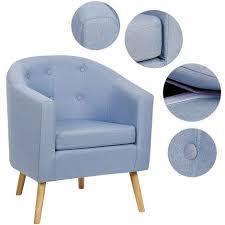 einzelsofastuhl aus massivem holz kleines sofa lazy hocker stoff für wohnzimmer schlafzimmer balkon blaugrau