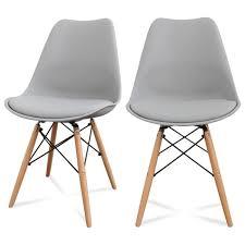 lot de 2 chaises design ormond dsw couleur gris achat vente