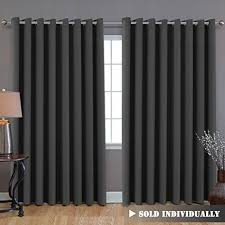 Gray Ruffle Blackout Curtains by Extra Long Blackout Curtains Amazon Com