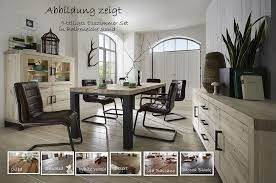 esszimmer set 11teilig balkeneiche massiv esstisch 280 cm casade mobila