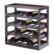 Under Cabinet Stemware Rack Walmart by Amazon Com Winsome Wood Kingston Removable Tray Wine Storage Cube