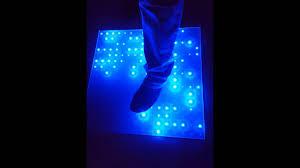 glass rgb led multi touch sensitive disco floor tile