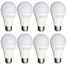 8 pack led light bulbs dimmable 40w equiv soft white a19 energy