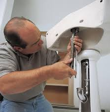 Install Kindred Sink Strainer by Pedestal Sink Plumbing Befon For