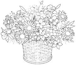 Flower Printable Coloring Pages For Adults Of Flowers 7