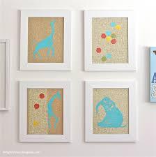 Nursery DIY Glittery Animal Print